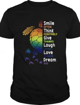 Smile Often Think Positively Give Thanks Laugh Loudly TShirt
