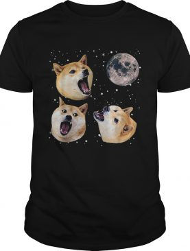 Three Doge Meme Night Howling at the Moon Christmas shirt