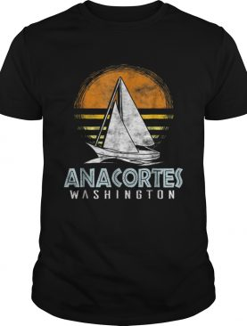 Vintage Nautical BoatAnacortes Washington Yacht shirt
