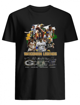 Wisconsin Legends Green Bay Packers signatures shirt