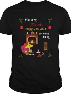 Woodstock This is Hallmark Christmas Movie watching shirt