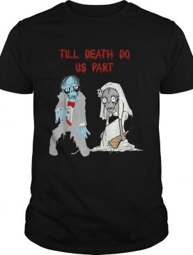 Zombie Bride Groom Hallowedding Halloween Wedding Costume shirt