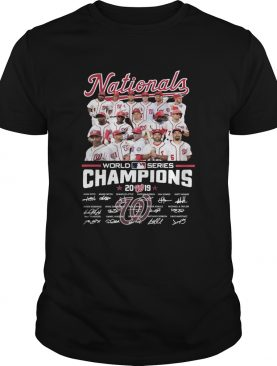 World Series Champions Washington Nationals Players Signatures shirt
