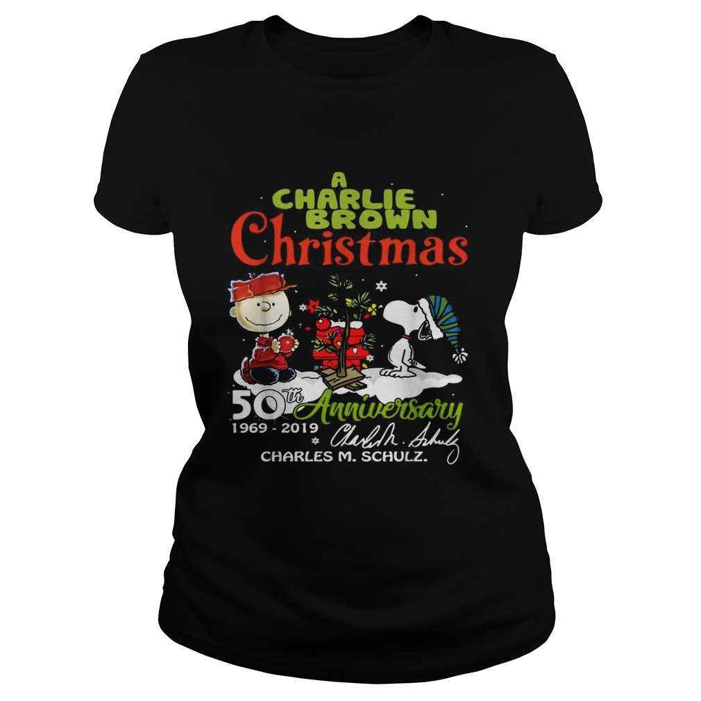 1572683681A Charlie Brown Christmas 50th Anniversary 1969-2019 signature Classic Ladies