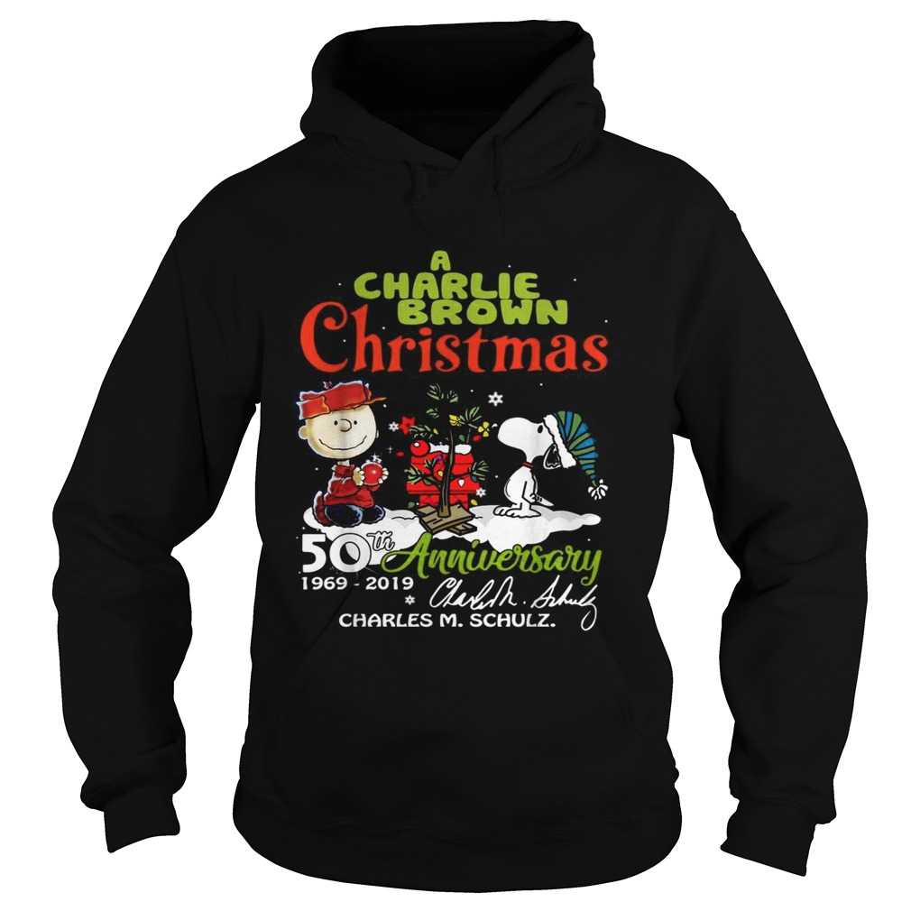 1572683681A Charlie Brown Christmas 50th Anniversary 1969-2019 signature Hoodie
