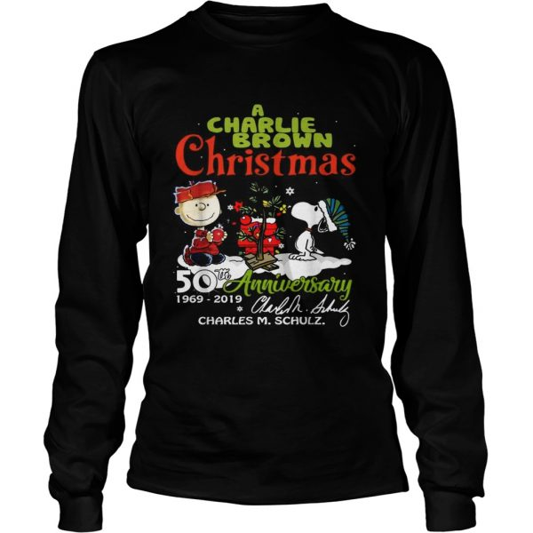 1572683681A Charlie Brown Christmas 50th Anniversary 1969-2019 signature  LongSleeve