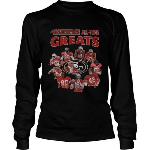 49ers alltime greats San Francisco 49ers Players Signatures  LongSleeve