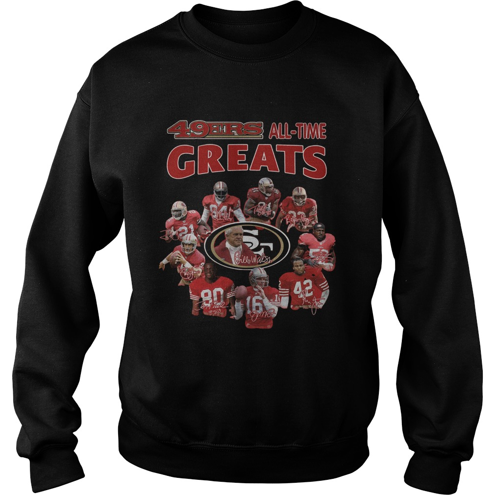 49ers alltime greats San Francisco 49ers Players Signatures  Sweatshirt