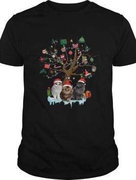 Cat Lover Christmas Tree shirt