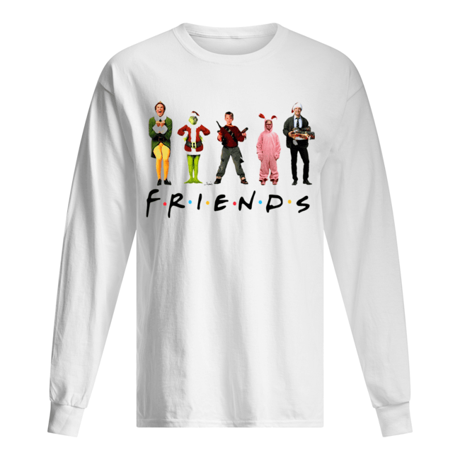 Characters Elf Grinch Kevin Friends Christmas  Long Sleeved T-shirt