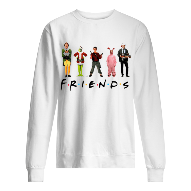 Characters Elf Grinch Kevin Friends Christmas  Unisex Sweatshirt