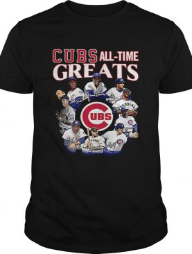 Chicago Cubs all time Greats team players signatures shirt