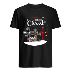 Christmas begins with christ cross Mickey Mouse  Classic Men's T-shirt