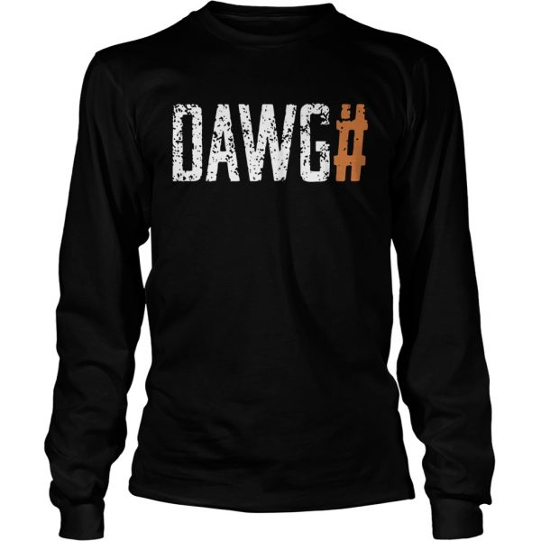 Cleveland Browns Dawg Check Brown  LongSleeve