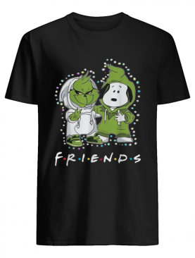 Grinch and Snoopy friends tv show Christmas shirt