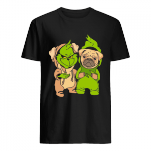 Grinch and pug  Classic Men's T-shirt