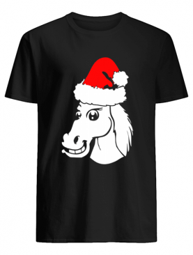 Horse Christmas Santa Hat shirt