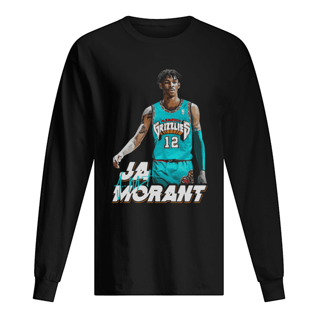 Ja Morant 12 Memphis Grizzlies Basketball  Long Sleeved T-shirt