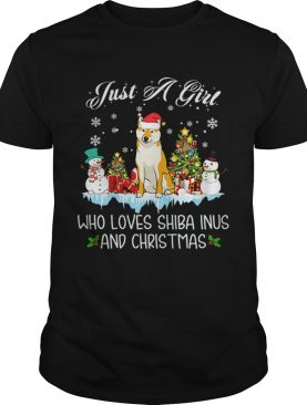 Just A Girl Loves Shiba Inu And Christmas shirt