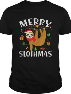 Merry Slothmas Christmas Pajama for Sloth Lovers shirt