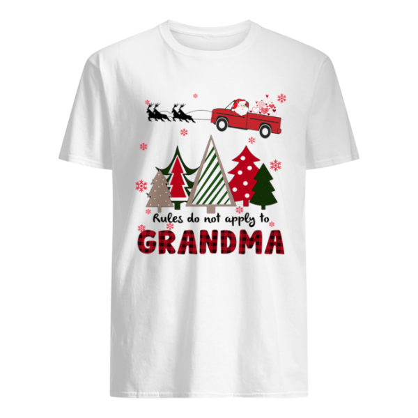 Rules Do Not Apply To Grandma Funny Christmas  Classic Men's T-shirt