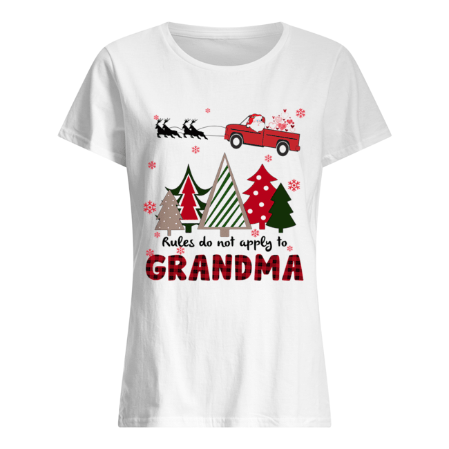 Rules Do Not Apply To Grandma Funny Christmas  Classic Women's T-shirt