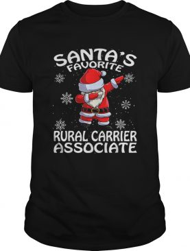 Santas Favorite Rural Carrier Associate Funny Christmas shirt
