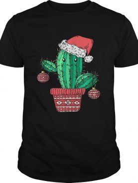 Santas Hat Cactus Sweater Tee Christmas Party Xmas Holidays shirt