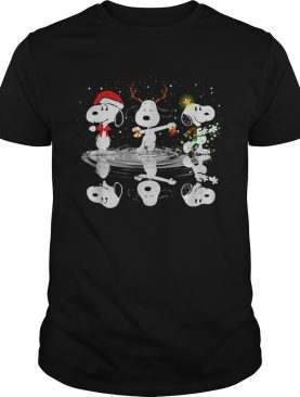 Snoopy Christmas reflection water mirror shirt