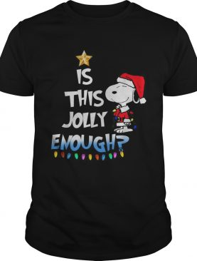 Snoopy is this Jolly Enough shirt