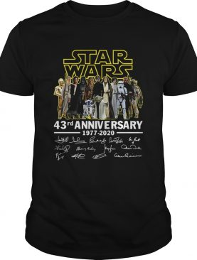 Star Wars 43rd Anniversary 19772020 Signatures shirt