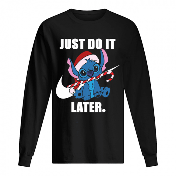 Stitch just do it later  Long Sleeved T-shirt