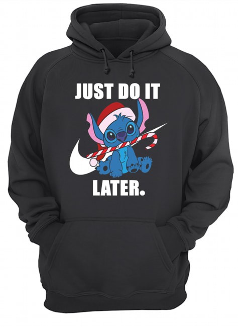 Stitch just do it later  Unisex Hoodie