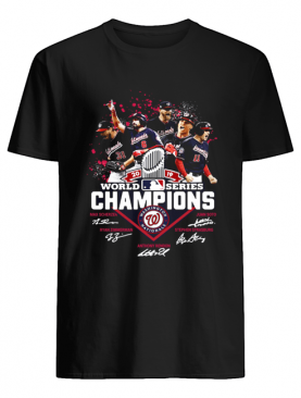 Washington Nationals Logo 2019 World Series Champions Signatures shirt