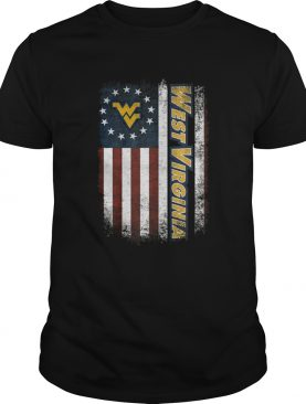 West Virginia Mountaineers Betsy Ross flag shirt