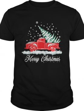 Christmas Classic Old Red Truck Classic XMAS Tree shirt
