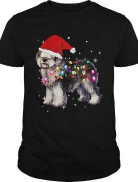 Christmas Lights Olde English SheepDog shirt