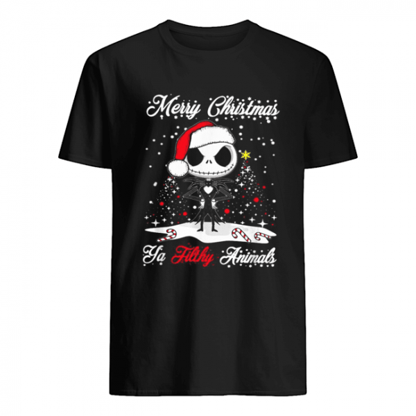Jack Skellington Merry Christmas Ya filthy animals Christmas  Classic Men's T-shirt