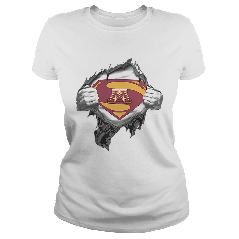 Minnesota Golden Gopher inside me Superman logo  Classic Ladies