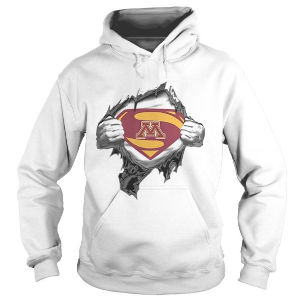 Minnesota Golden Gopher inside me Superman logo  Hoodie