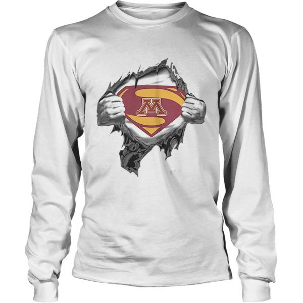 Minnesota Golden Gopher inside me Superman logo  LongSleeve