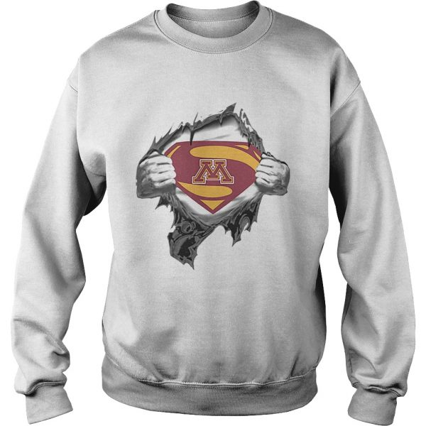 Minnesota Golden Gopher inside me Superman logo  Sweatshirt