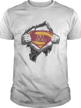 Minnesota Golden Gopher inside me Superman logo shirt