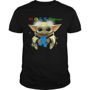 Baby Yoda Hug Autism Its Oh To Be Different  Unisex