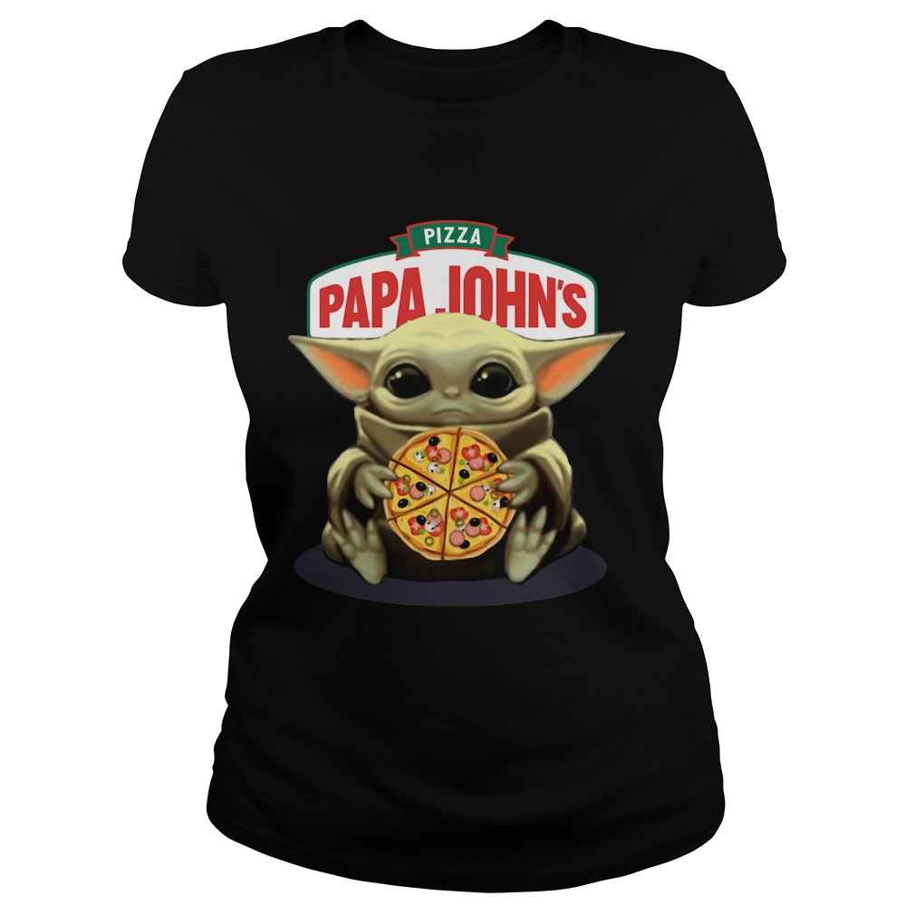 Baby Yoda Hug Pizza Papa Johns  Classic Ladies