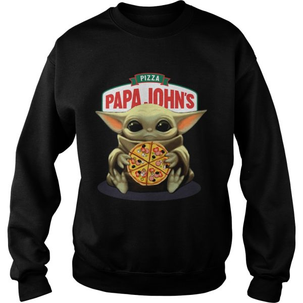Baby Yoda Hug Pizza Papa Johns  Sweatshirt