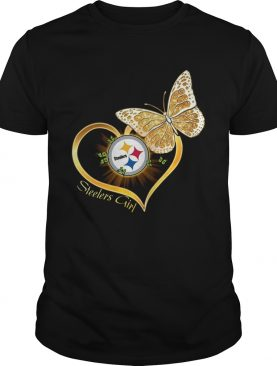 Heart Butterfly And Pittsburgh Steelers Girl shirt