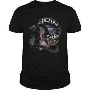 Join or die skull American flag  Unisex