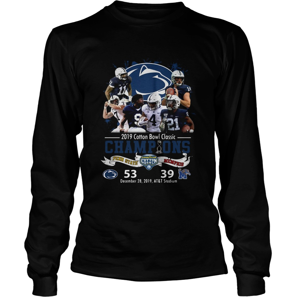 Penn State Nittany Lions 2019 Cotton Bowl Classic Champions LongSleeve