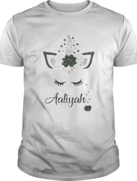Ava St Patricks Day Personalized Glitter Aaliyah shirt